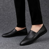 [PREMIUM QUALITY] genuine Leather Men's Casual Shoes slip on Loafer