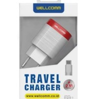 Travel charger wellcomm 2.1A Original