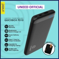 UNEED UPB101PD QuickBox PD10 Power Bank 10000 mAh Qualcomm 3.0
