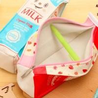 TERMURAH Kotak Pensil Bentuk Kotak Susu (Kotak untuk tempat alat