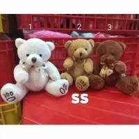 Boneka Mini Teddy Bear , Boneka Lempar Wedding Souvenir 15cm