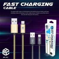 Kabel Data Charger Lapis Besi Tipe C Type C Samsung Fast Charging