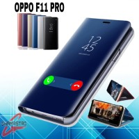 Case Oppo F11 Pro Flip Clear View Standing Cover Casing Oppo F11 Pro