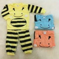 Baju Piyama Setelan Panjang Bayi Anak Laki-laki / Baju Tidur Bayi