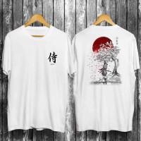 Kaos Baju Distro Grosir dan Ecer Keren Motif Samurai Dpn Blkg