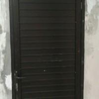 kusen alumunium + pintu daun alumunium spandreal coklat