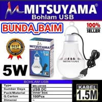 BOHLAM USB KABEL 5 WATT ST12 / LAMPU KABEL USB 5W LED EMERGENCY