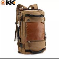 Tas ransel pria kanvas Impor | Tas Backpack Camping Travel |Tas laptop