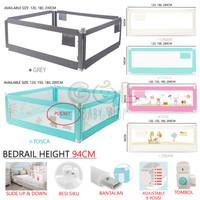 HOT PROMO Safety Baby Bedrail Bed Rail Pengaman Pembatas Pagar Kasur A