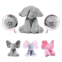 HOT PROMO Boneka gajah peek a boo, elephant peek ka boo, cilukba, - Ab