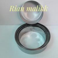 Ring cutter bulat/Alat pemotong kue stainless steel 0,5 mm Dm 24 cm