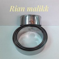 Ring cutter Bulat/Alat pemotong kue stainless steel 0,5mm Dimensi 20cm