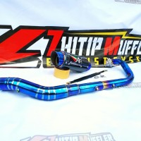 Knalpot racing AUSTIN RACING Carbon Bluemoon R15 - CB150R - CBR150