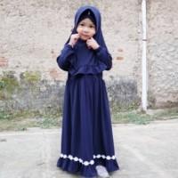 Baju Muslim Stela Navy Gamis Anak Perempuan Cantik dan Murah
