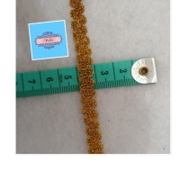 Renda kur Emas Perak kecil per meter