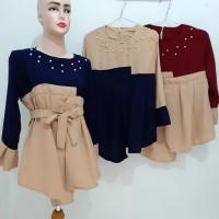 ASD07 blouse pearl tali pinggang