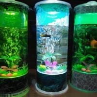 akuarium mini aquarium portable ikan hias