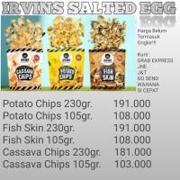 PREORDER! IRVINS Salted Egg Fish Skin 230gr (Singapura) - Potato Chips