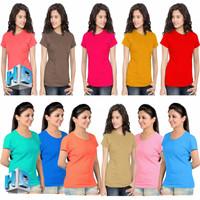 Kaos Wanita / Kaos Cewe / Kaos Murah / Kaos Polos Basic Oneck HD