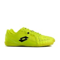 Sepatu Futsal Lotto Squadra IN Black Heart Red Safety Yellow Original