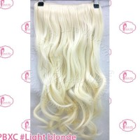 Big Layer Hair Extension Clip Hairclip Lurus Curly Brown Copper Blonde