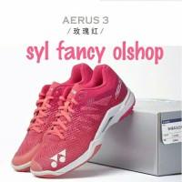sepatu yonex aerus 3 red rose olahraga badminton bulutangkis LCW