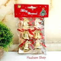 Lonceng Mini Merry Christmas isi 6 dekorasi Pohon Parcel Natal Murah