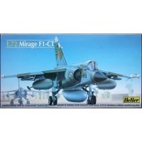 pesawat MIRAGE F1-CT 1/72 model kit heller