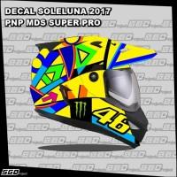Stiker Decal Helm Motif Soleluna PNP MDS SUPERPRO