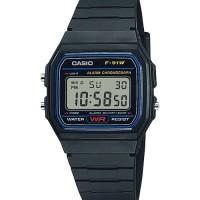 Jam Tangan Pria wanita Casio F-91W1 Blue baru bergaransi 1 tahun termu