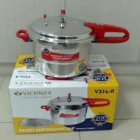 Panci Presto 8ltr Vicenza Gagang Merah V324R