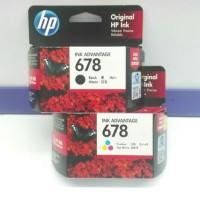 Tinta Printer ORIGINAL HP 678 Black & 678Colour 1set