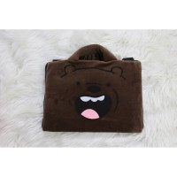 Grizzly Face Coklat Tipis 10-14 Inch Tas Laptop Softcase Animasi