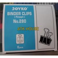 Binder Clips 280/Klip Kertas/Penjepit Kertas/Klip Hitam/Jepitan Kertas
