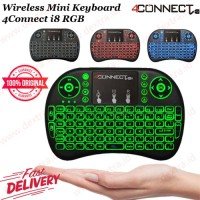 Wireless Mini Keyboard 4Connect i8 RGB with TouchPad and Air Mouse ORI