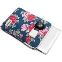 Tas Laptop Macbook Softcase Canvaslife 13 inch Flower Verti - Blue Mur