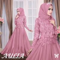 Maxi Aulia Pink Busana Muslim Terbaru Baju Gamis Brukat