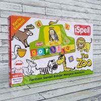 Flashcard The Zoo - iSpell Kartu Pintar Membaca Huruf Mainan Edukasi