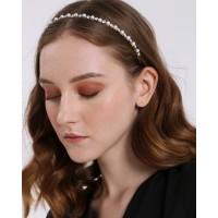 Eloisetowear Luce Rhinestone-Pearl Bead Headband