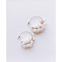 Eloisetowear Bethan Pearl Hoop Earrings