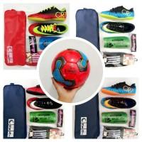 Paket lengkap sepatu futsal anak size 28-32