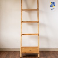 Sella Shelf / Rak Buku Sella / Rak Buku Kayu Minimalis Modern - Natural Wood