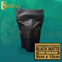 Standing Pouch Super Black Matte Klip Zipper 150 g 9x15 PROMO isi 100