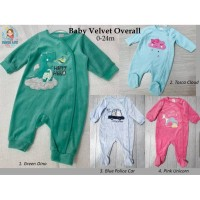 BABY VELVET OVERALL BABY CLUB / JUMPER BAJU BAYI / KADO BAYI