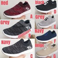 sepatu slip on anak import sneakers laki laki hitam murah original