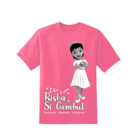 Kaos Riska Cantik - Pink - Original Merchandise Riska dan Si Gembul