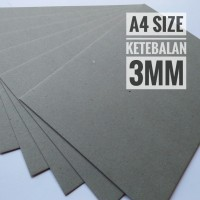 Kertas Karton Board No. 20 Ukuran A4 21 cm X 29.7 cm