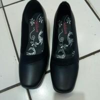 sepatu pantovel wanita wedges.milton DR 303 sepatu kerja kantoran