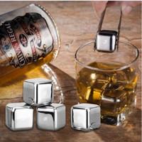 PUC Es Batu Stainless Steel Reusable Ice Cube Pendingin Non Cair 1 Pcs