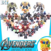 Thanos Iron Man Marvel Avengers set the Lego Minifigure compatible bui
